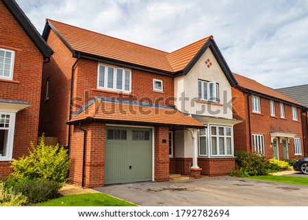 Detached houses in Manchester, United Kingdom ストックフォト ©