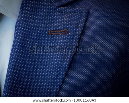 Detail closeup close-up of suit jacket ストックフォト ©
