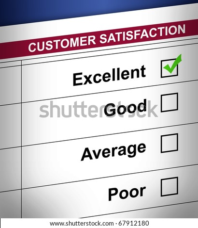 detail Customer satisfaction form.