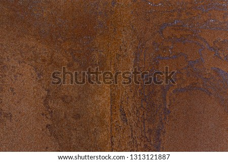 Detail facade of rusted Corten steel with different patterns, textures and structures Foto stock ©