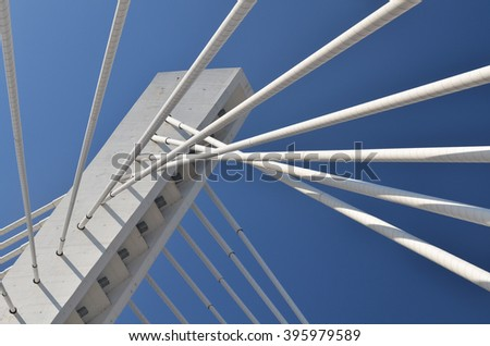 Detail from modern bridge #395979589