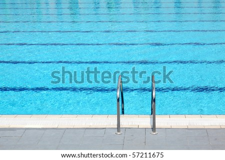 Detail from open air olympic swimming pool
