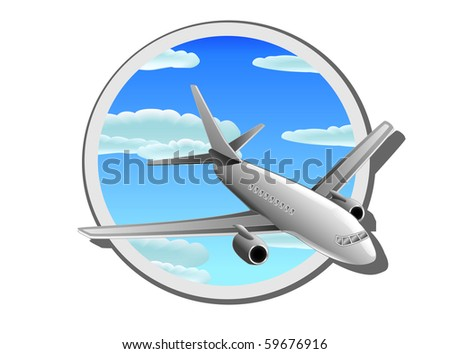 Detail illustration of commercial plane. You can find the same vector illustration in my portfolio.