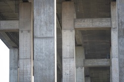 detail images  of a motorway bridge over a river in northern germany