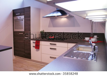 detail in a modern and new kitchen