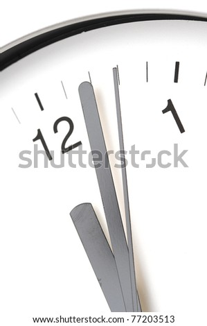 detail in close-up of a modern office clock