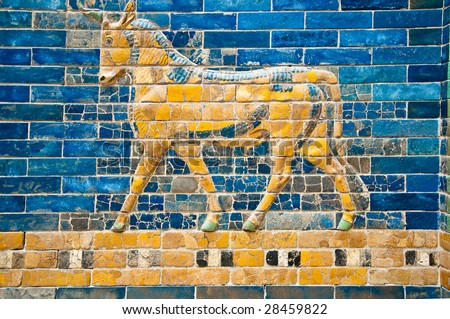 detail of a  babylonian city...