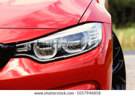 Detail of a beauty and fast sport car - headlight