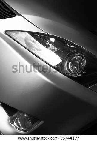 Detail of a beauty and fast sportcar - stock photo