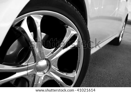 Detail of a beauty and fast sportcar #41021614