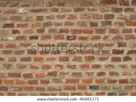 Detail of a brick wall useful as a background