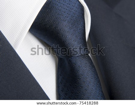 Detail of a business man suit, shirt and tie