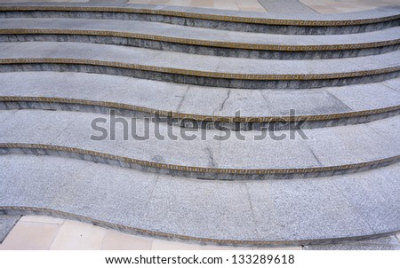 Detail of a Chinese style stone staircase forming a pattern