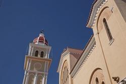 Detail of a church on island of Zakynthos in Greece.