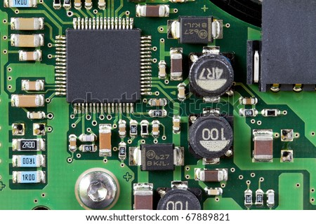 Detail of a computer mainboard