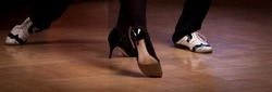 Detail of a couple's shoes when is dancing tango. Please see more images from my portfolio.