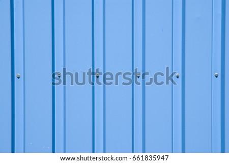 detail of a covered facade/blue facade/metal facade #661835947