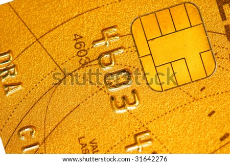 Detail of a credit card