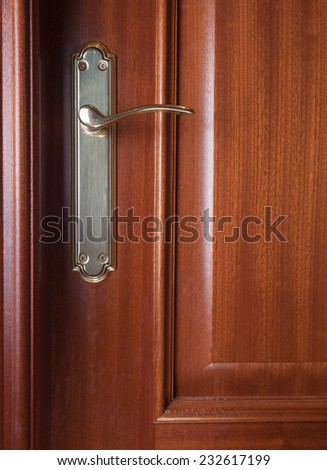 Detail of a door with handle background