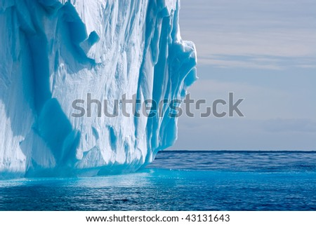 detail of a dripping iceberg