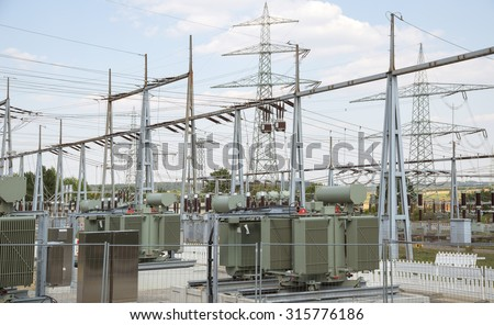 detail of a electrical substation in Southern Germany