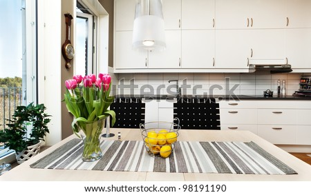 detail of a fancy kitchen