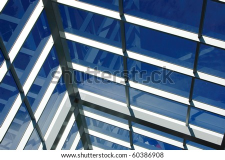 Detail of a glass business building