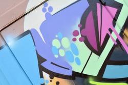 Detail of a graffiti on a wall