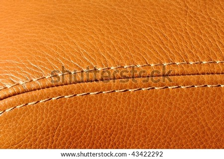 Detail of a leather armchair