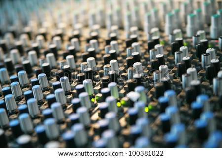 Detail of a mixer............