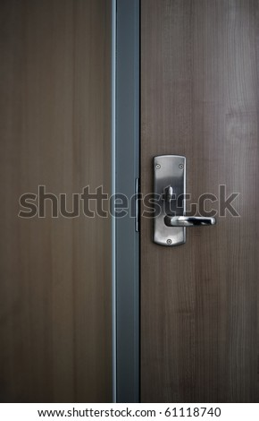 Detail of a modern office door background - stock photo