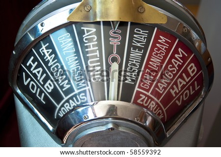 Detail of a nautical instrument - stock photo