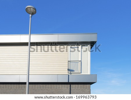 detail of a newly build modern house
