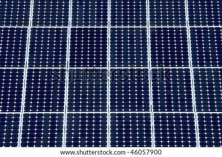 detail of a photovoltaic panel for electricity production