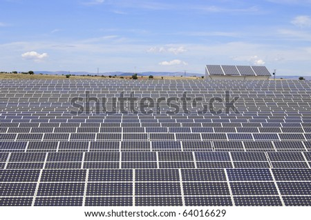 detail of a photovoltaic panels for electricity production