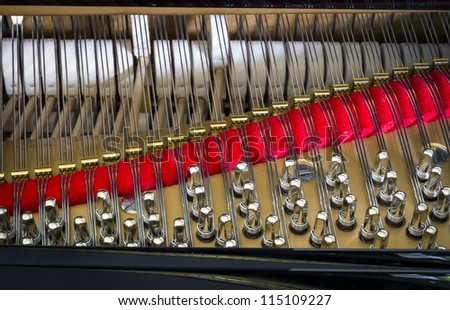 detail of a piano string