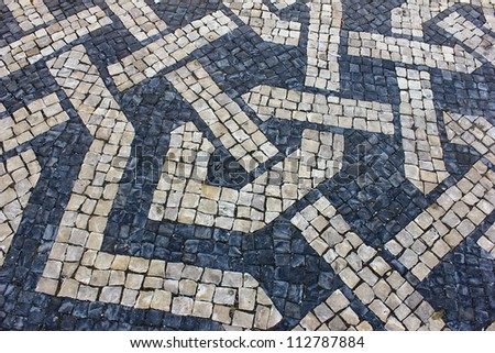Detail of a portuguese stone pavement
