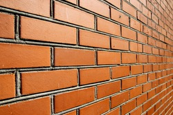 Detail of a red brick wall texture for background