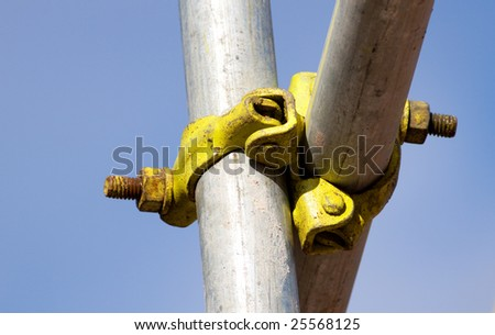 Detail of a scaffolding joint