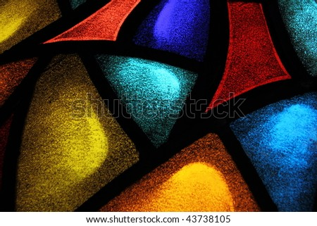 Detail of a stained glass window 1