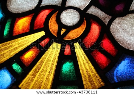 Detail of a stained glass window 3