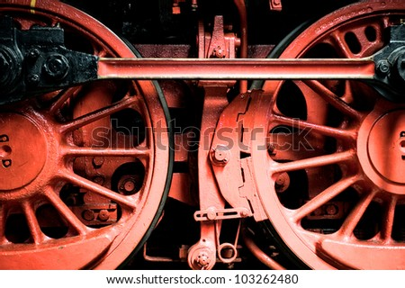 detail of a steam train