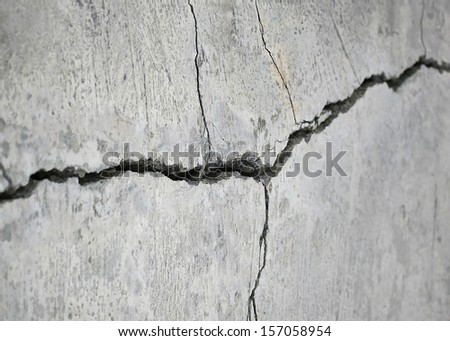 detail of a stone crack