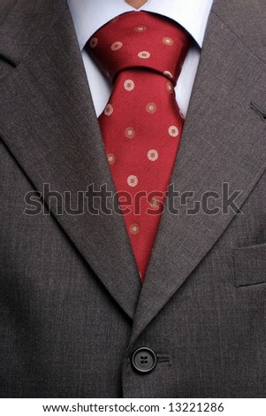 Detail of a suit and a tie, isolated