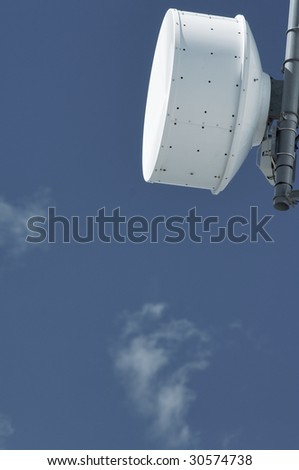 detail of a telecommunications tower