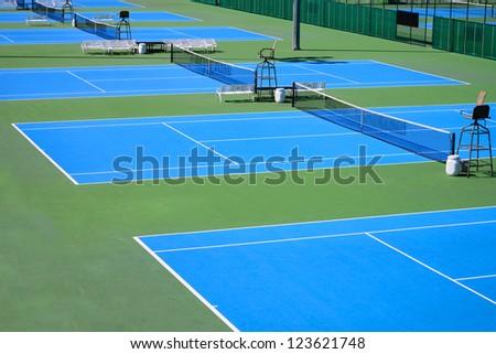 Detail of a tennis court