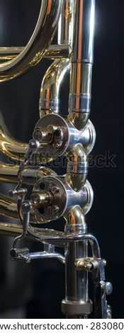 detail of a trombone