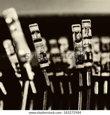 Detail of a typewriter - stock photo
