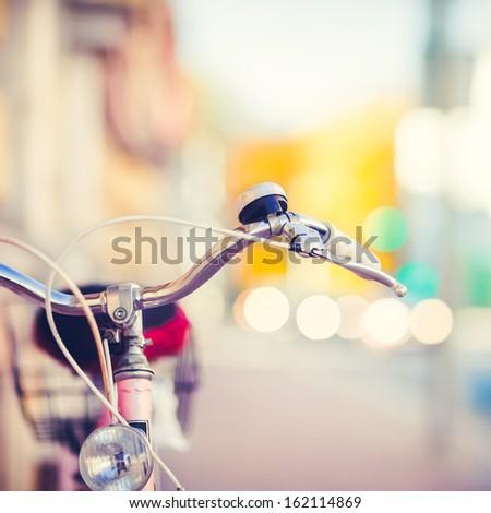 detail of a vintage bike...