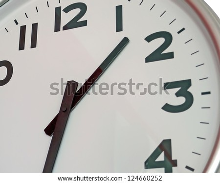 detail of a wall clock